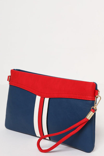 Blue Sporty Tape Stripe Mini Bag