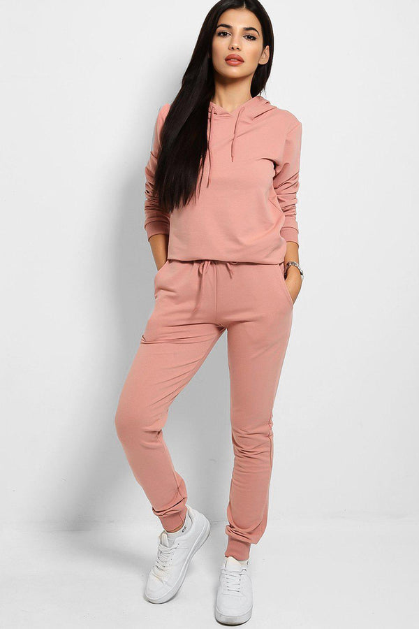 Pink Fashion Stole My Soul Slogan Back Tracksuit