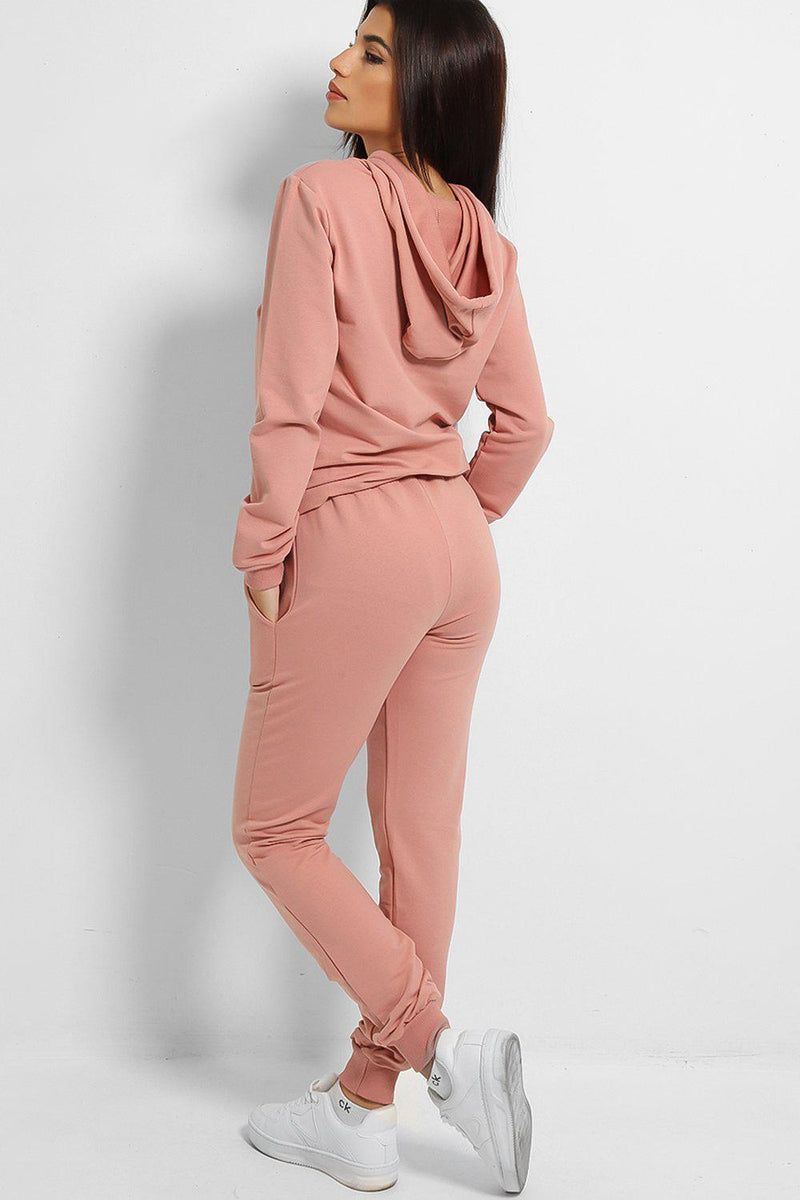 Pink Goddess Cotton Blend Tracksuit - SinglePrice