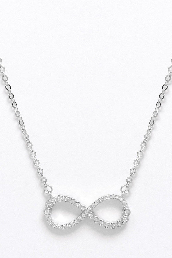 Silver 925 CZ Encrusted Eternity Necklace - SinglePrice