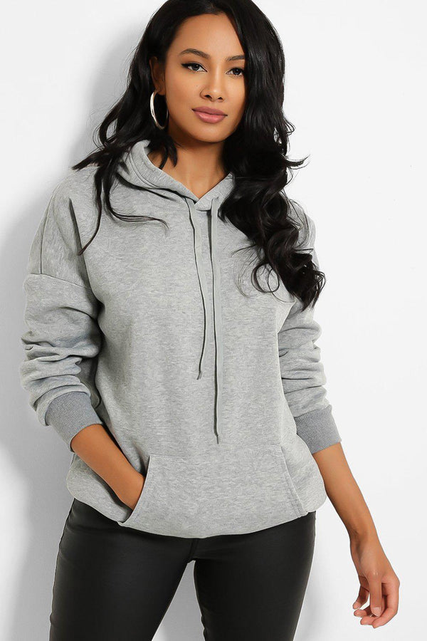 Grey Kangaroo Pocket Hooded Sweatshirt
