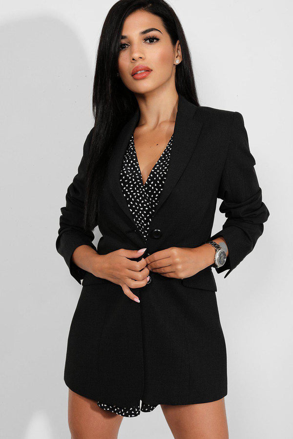 Dark Grey Triple Button Single Breasted Blazer - SinglePrice