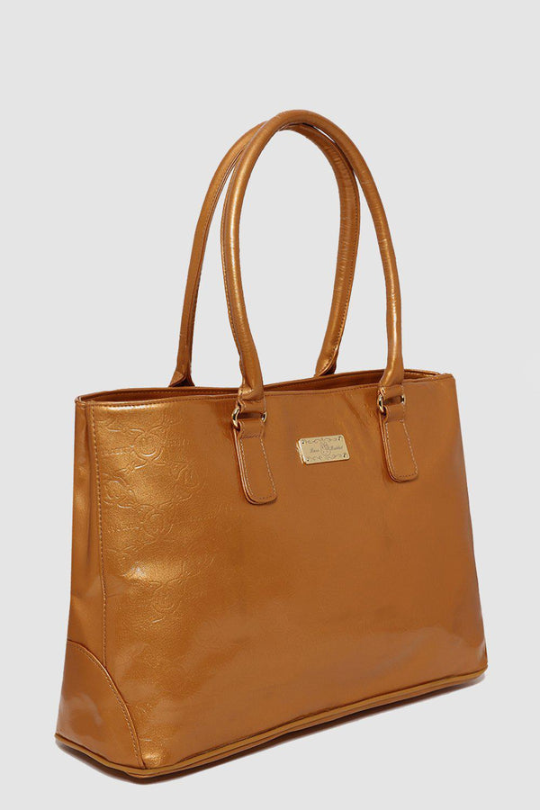 Embossed Gold Shopper Tote-SinglePrice