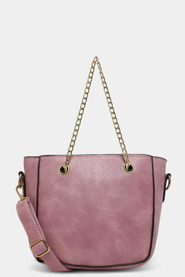 Purple Chain Handles Mini Handbag - SinglePrice