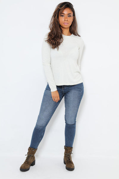 Soft Touch Cream Classic Jumper-SinglePrice