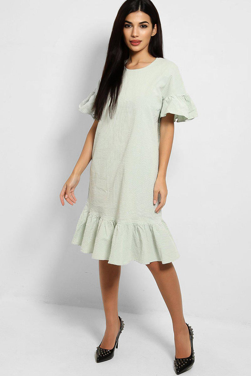 Mint Stripe Cupcake Dress - SinglePrice