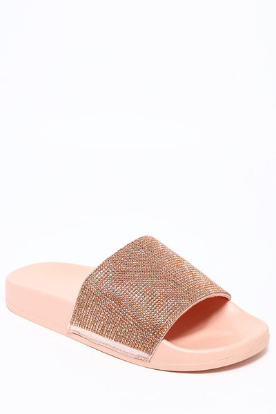 Crystals Embellished Gold Sliders-SinglePrice