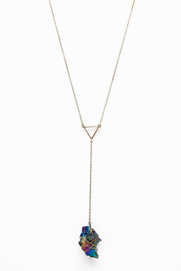 Galaxy Crystal Gold Necklace-SinglePrice