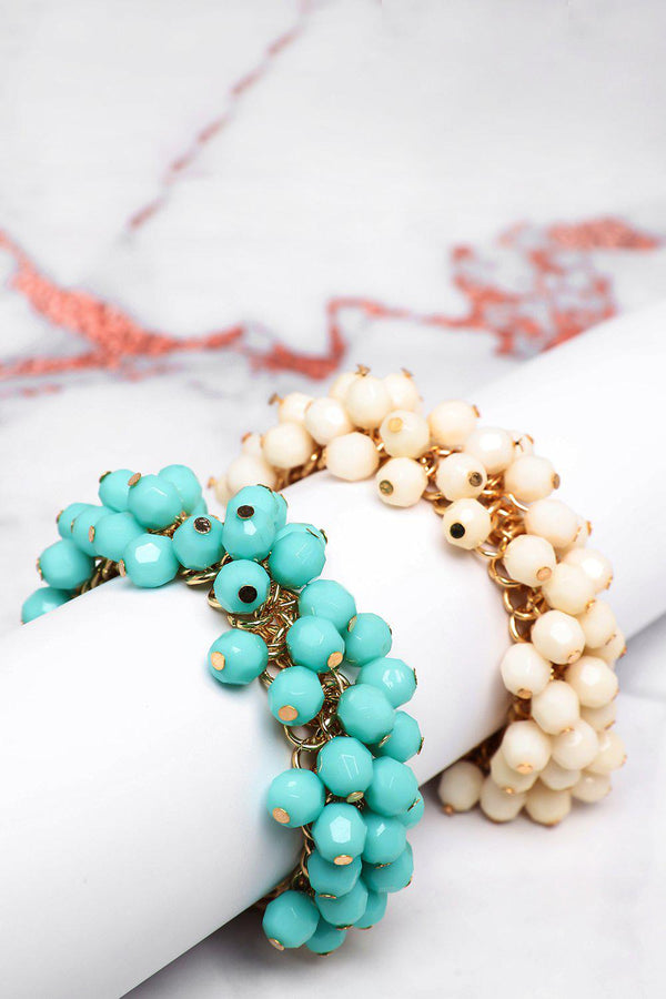Pack Of 2 Blue & Cream Toggle Bracelets - SinglePrice