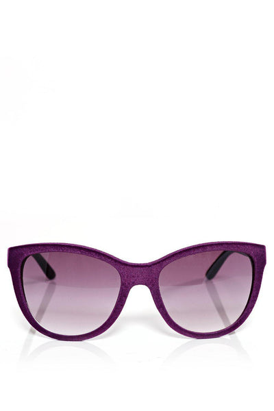 Purple Velvet Finish Oversized Sunglasses-SinglePrice