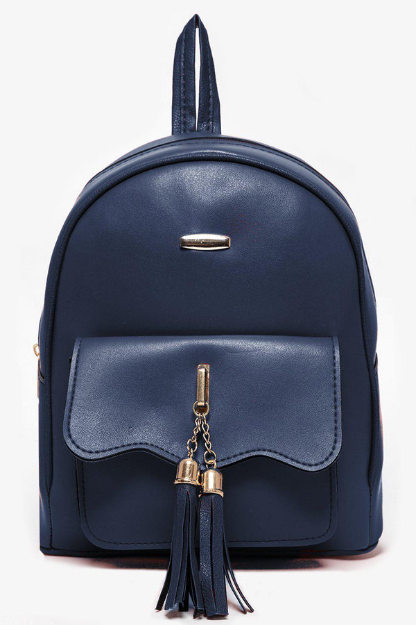 Tassel Details Navy Backpack-SinglePrice