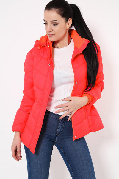 Orange Puffer Jacket-SinglePrice