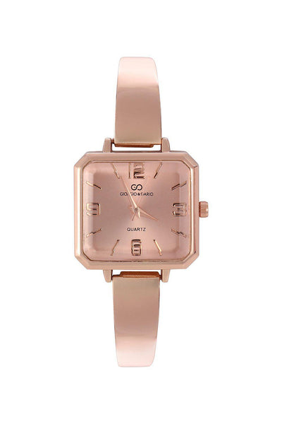 Rose Gold Band Rose Gold Square Dial Watch-SinglePrice