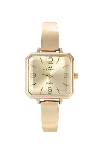 Gold Band Gold Square Dial Watch-SinglePrice