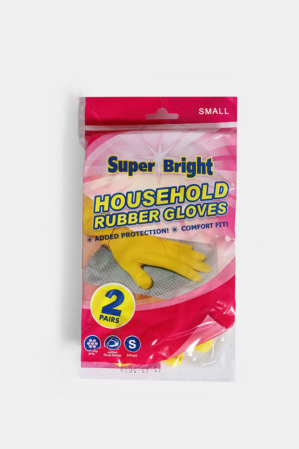 Super Bright 2 Pairs Rubber Gloves In Small - SinglePrice