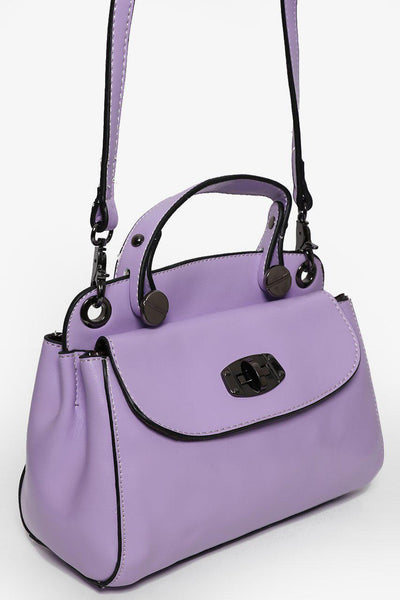 Front And Back Pockets Small Purple Handbag-SinglePrice