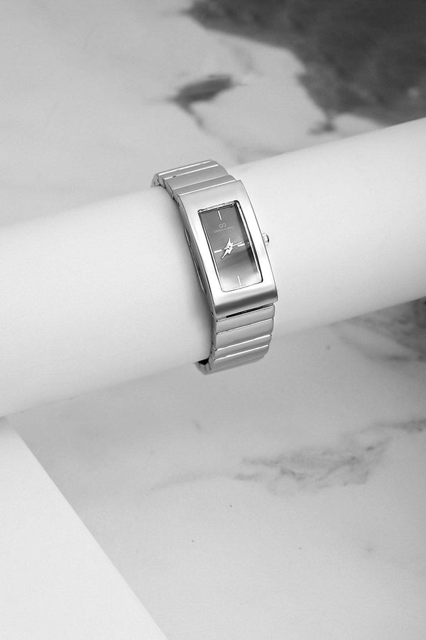 Silver Rectangular Dial Watch-SinglePrice