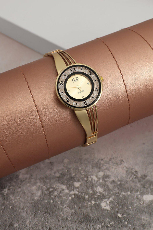 Gold Lose Crystals Circle Watch-SinglePrice