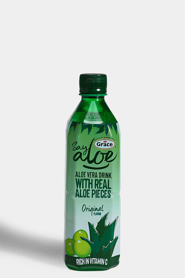 Grace Aloe Vera Drink With Real Aloe Pieces 500 ML - SinglePrice