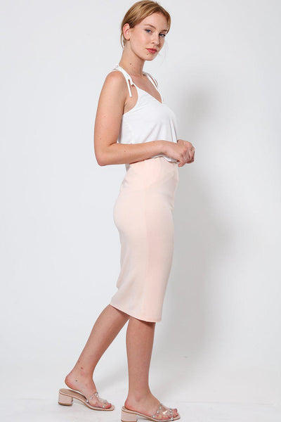 Light Pink Midi Skirt-SinglePrice