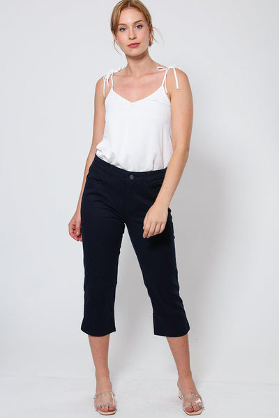 Navy Cropped Jeans-SinglePrice