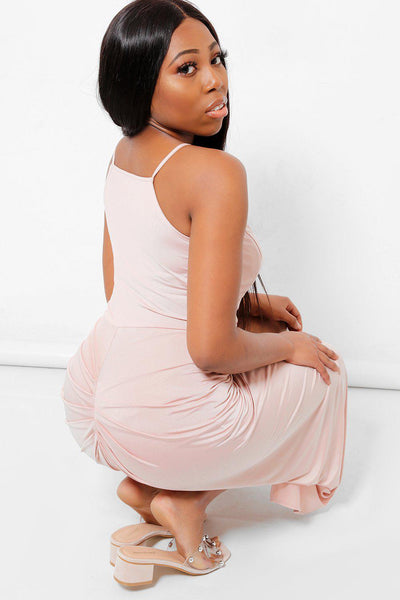 Pink Ruched Grecian Dress-SinglePrice