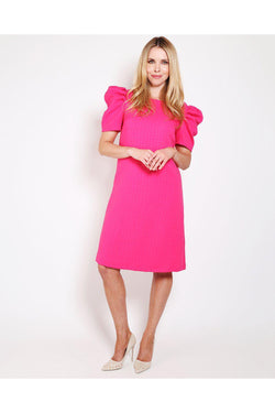 Purple Puff Sleeves Dress - SinglePrice