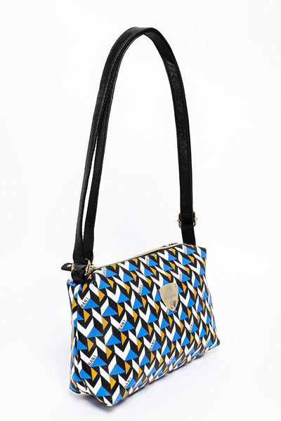 Blue 3D Print Cross Body Bag-SinglePrice