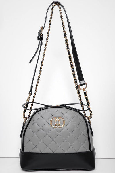 Quilted Grey Small Handbag-SinglePrice