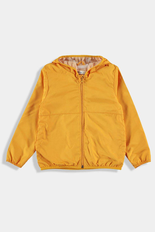 Mustard Hooded Baby Boy Windbreaker