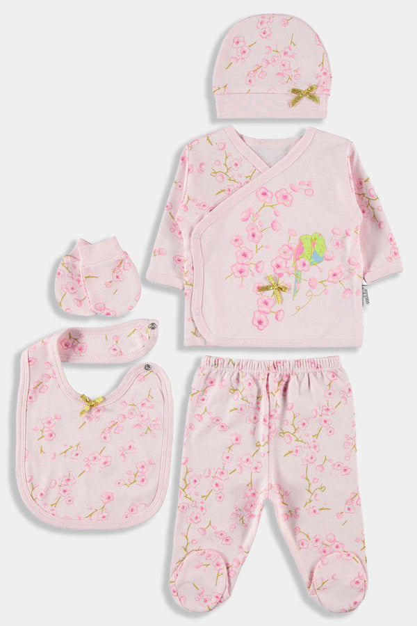 5 Piece Newborn Baby Girl Floral Bloom Set - SinglePrice