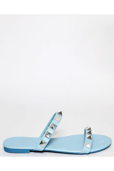 Blue Pyramid Studded Straps Sandals-SinglePrice