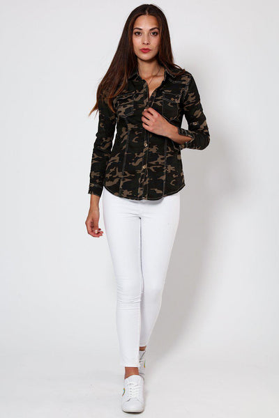 Camouflage Print Shirt-SinglePrice