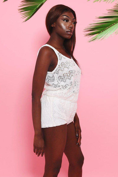 White Lace Playsuit-SinglePrice