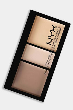 Nyx Cream Highlight And Contour Palette Kit 01 Light - SinglePrice
