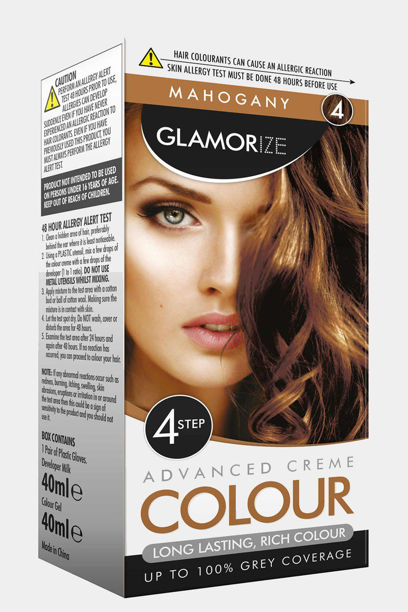 Glamorize Mahogany Permanent Hair Colour No.4 - SinglePrice
