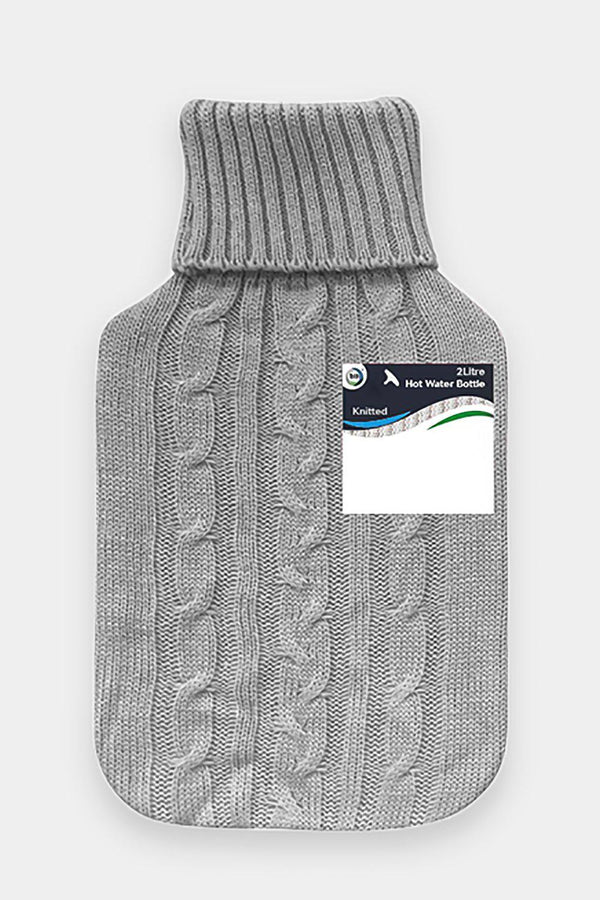 Did Hot Water Bottle & Knitted Cover 2L Grey-SinglePrice
