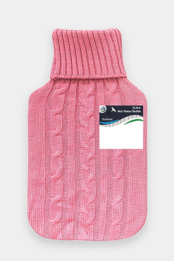 Did Hot Water Bottle & Knitted Cover 2L Pink-SinglePrice