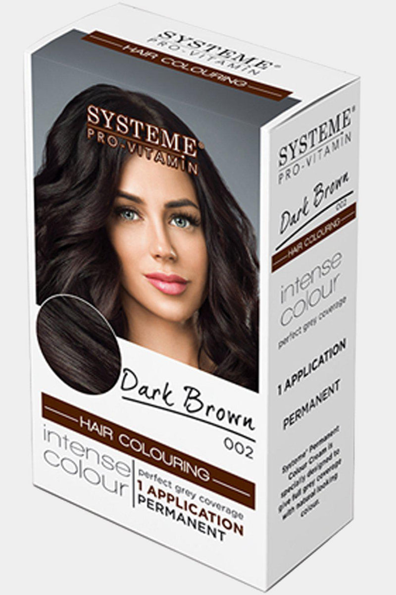 Systeme Pro-Vitamin Permanent Colour Dark Brown Hair Dye - SinglePrice