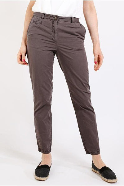 Ash Grey Boyfriend Chino Trousers-SinglePrice