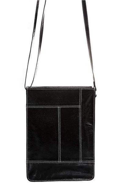 Black Genuine Leather Cross Body Bag-SinglePrice