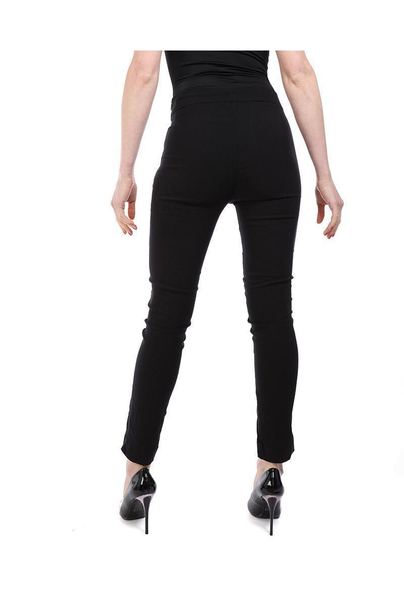 Black Puched PU Panel Trousers-SinglePrice