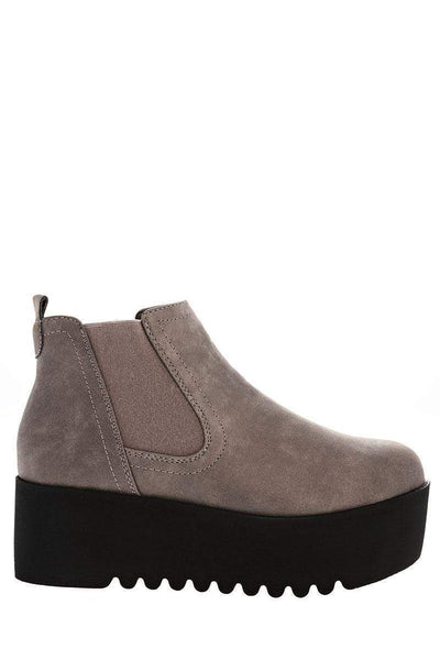 Black Wedge Grey Chelsea Boots-Single price