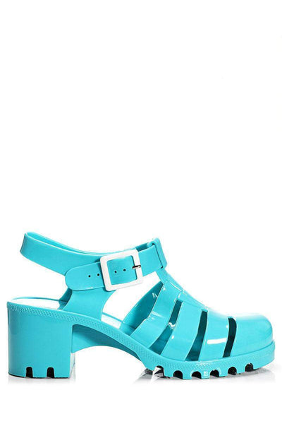 Blue Jelly Sandals-Single price