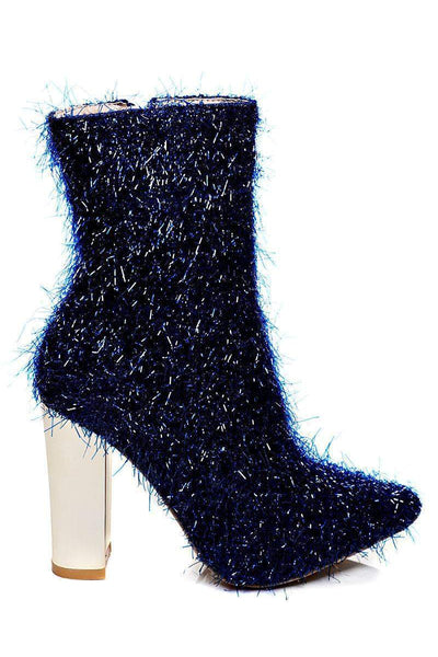 Blue Tinsel Ankle Boots-SinglePrice