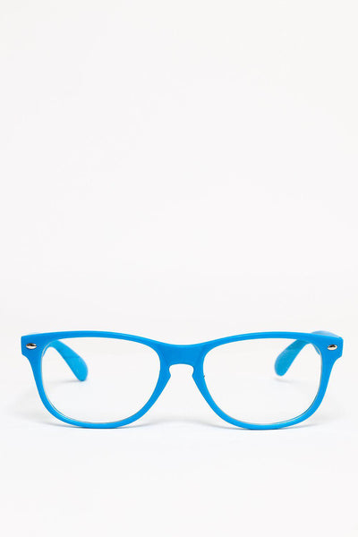 Blue Frame Clear Lens Glasses