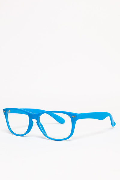 Blue Frame Clear Lens Glasses-SinglePrice