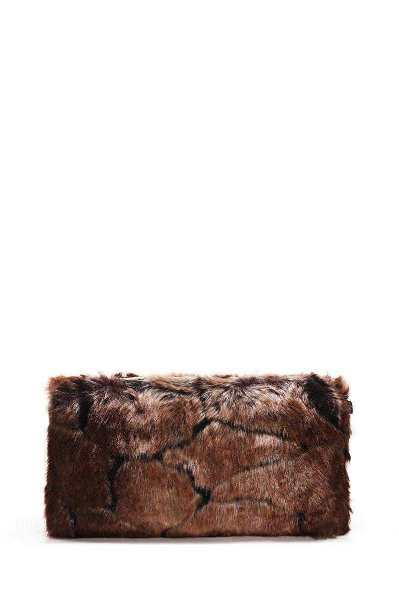 Brown Faux Fur Small Clutch-SinglePrice