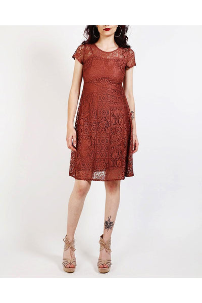 Brown Lace Dress-SinglePrice