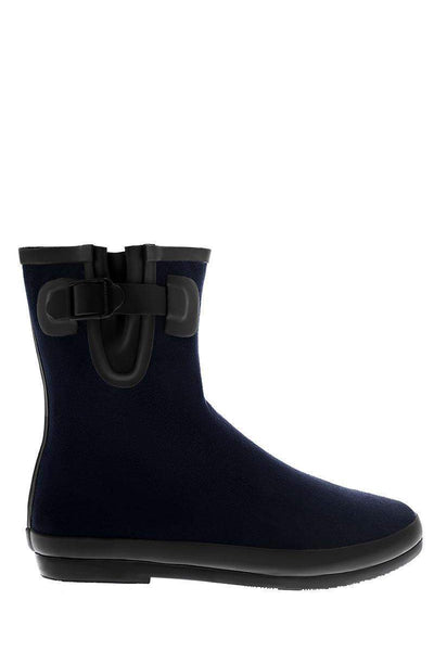 Buckle Detail Blue Welly Boots-Single price